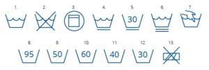 Символы на ярлыках одежды. Химчистка прачечная в Киеве